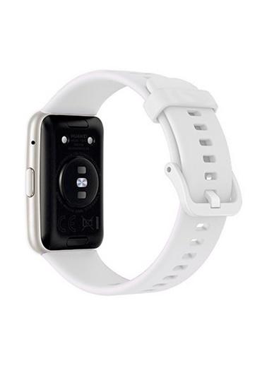 MobilCadde Huawei Watch Fit Silikon Beyaz Kordon Beyaz